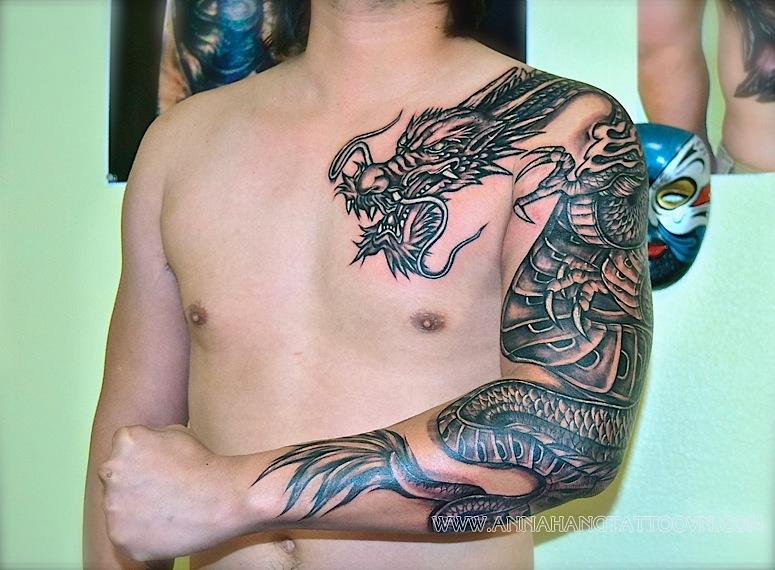 Annahang tattoo dragon — 1